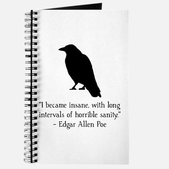 Edgar Allen Poe Quote Journal