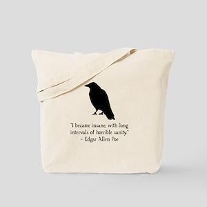 Edgar Allen Poe Quote Tote Bag