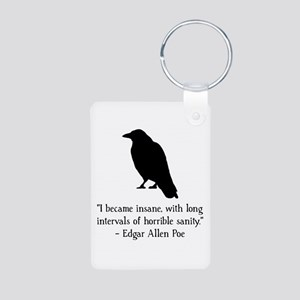 Edgar Allen Poe Quote Aluminum Photo Keychain