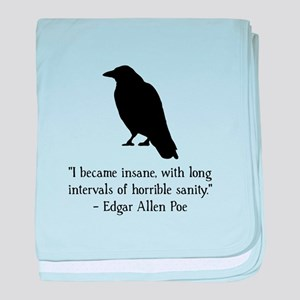Edgar Allen Poe Quote baby blanket