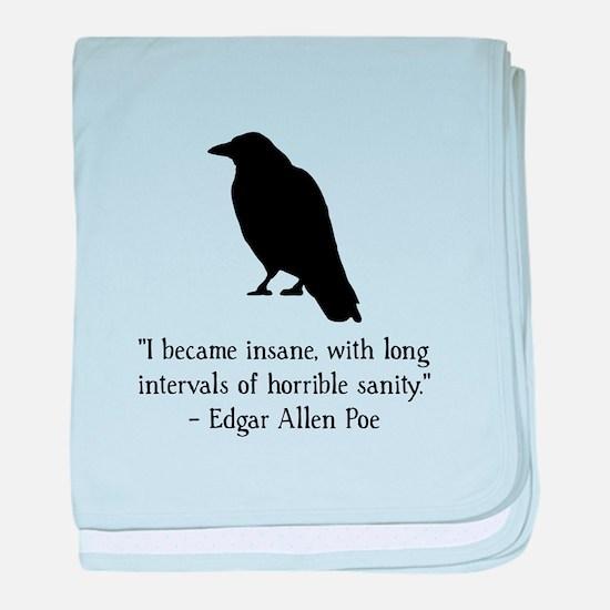 Edgar Allen Poe Quote baby blanket