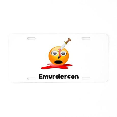 Emurdercon Aluminum License Plate