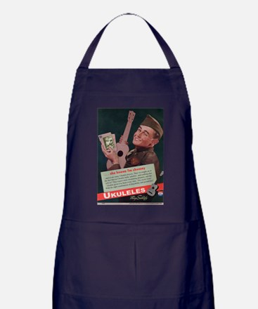 Ukuleles Satisfy! Apron (dark)