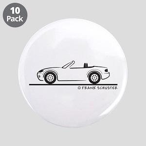 "Mazda Miata MX-5 NB 3.5"" Button (10 pack)"