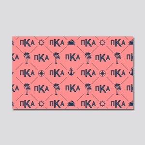 PKA Coral Pattern Car Magnet 20 x 12
