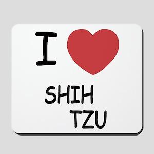 I heart shih tzu Mousepad