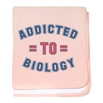 Addicted to Biology baby blanket