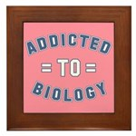 Addicted to Biology Framed Tile