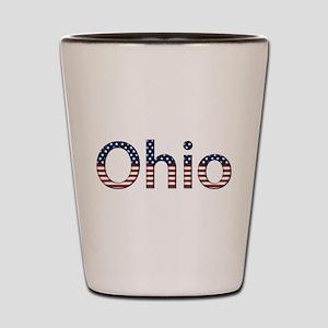 Ohio Stars and Stripes Shot Glass