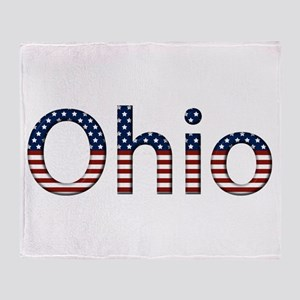 Ohio Stars and Stripes Throw Blanket