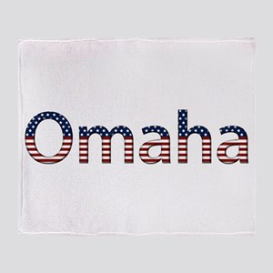 Omaha Stars and Stripes Throw Blanket