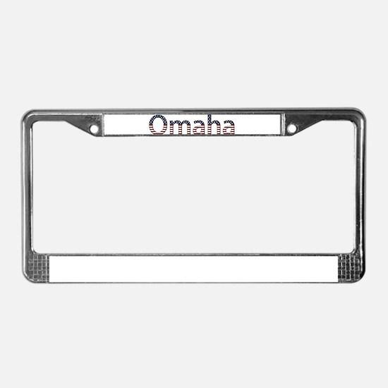 Omaha Stars and Stripes License Plate Frame