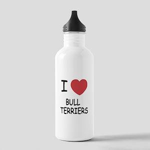 I heart bull terriers Stainless Water Bottle 1.0L