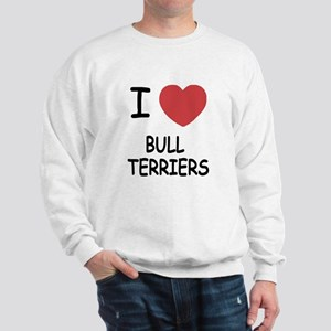 I heart bull terriers Sweatshirt