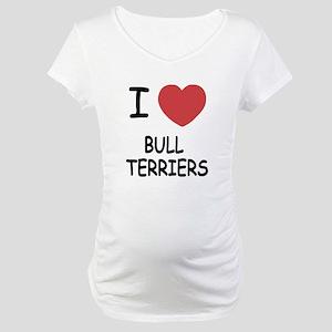 I heart bull terriers Maternity T-Shirt