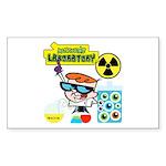 Dexters Laboratory Experiments Sticker (Rectangle)