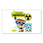 Dexters Laboratory Experiments Sticker (Rectangle