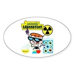 Dexters Laboratory Experiments Sticker (Oval)