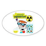 Dexters Laboratory Experiments Sticker (Oval 10 pk