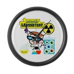 Dexters Laboratory Experiments Large Wall Clock
