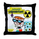 Dexters Laboratory Experiments Throw Pillow