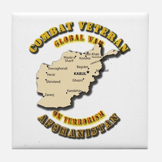 Combat Veteran - Global War Tile Coaster
