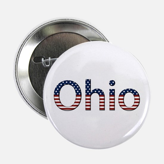 Ohio Stars and Stripes Button