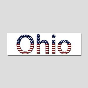 Ohio Stars and Stripes 10x3 Car Magnet