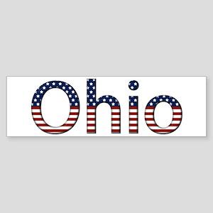 Ohio Stars and Stripes Bumper Sticker