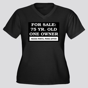 For Sale 75 Year Old Birthday Women's Plus Size V-