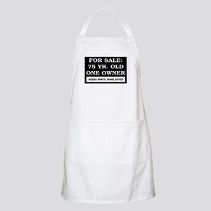 For Sale 75 Year Old Birthday Apron