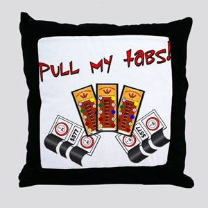 Pull my tabs! Throw Pillow