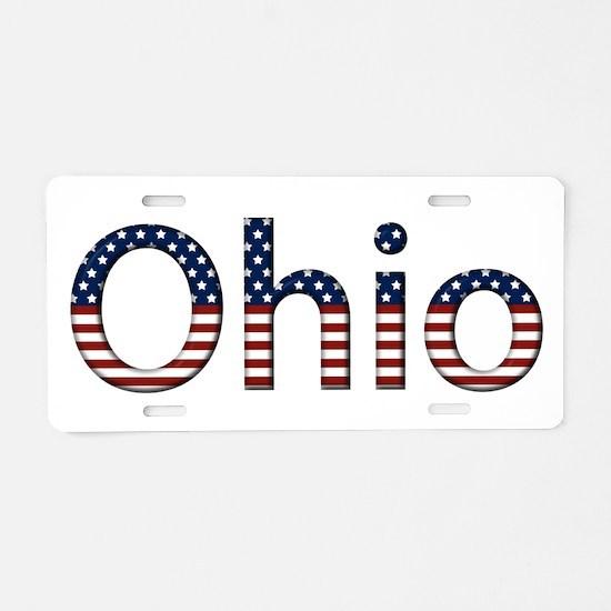 Ohio Stars and Stripes Aluminum License Plate