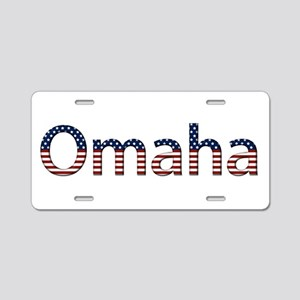 Omaha Stars and Stripes Aluminum License Plate