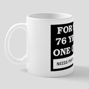 For Sale 76 Year Old Birthday Mug