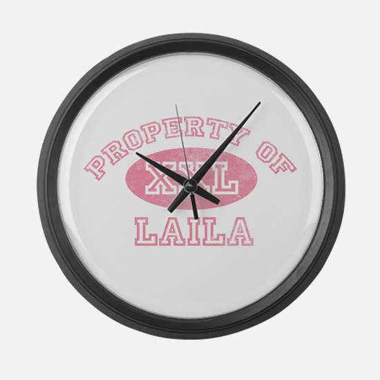 Property of Laila Large Wall Clock