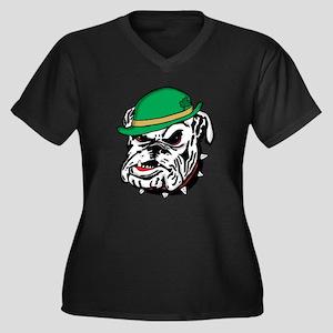 Irish Bulldog Women's V-Neck Plus Size T-Shirt