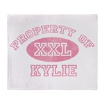 Property of Kylie Throw Blanket