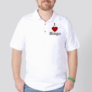 I Love Bingo Golf Shirt