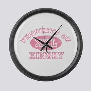 Property of Kinsey Large Wall Clock