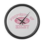 Property of Kiley Large Wall Clock