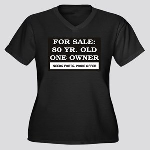 For Sale 80 year old Women's Plus Size V-Neck Dark