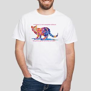 Cats Pitter Patter of Little Feet White T-Shirt