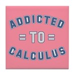 Addicted to Calculus Tile Coaster