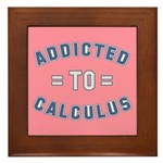 Addicted to Calculus Framed Tile