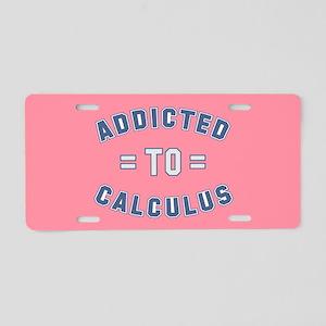 Addicted to Calculus Aluminum License Plate