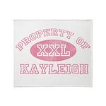Property of Kayleigh Throw Blanket