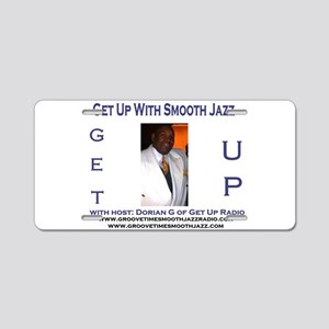Groove-Time Smooth Jazz Aluminum License Plate