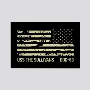 USS The Sullivans Rectangle Magnet