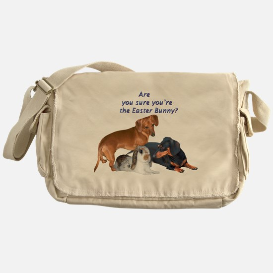 are you the Easter Bunny Dogs Messenger Bag